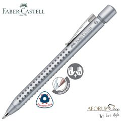"Kemični svinčnik Faber-Castell ""Grip 2011,XB "" Silver AFORUM.shop®"
