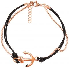 Women's leather bracelet Akzent A504166