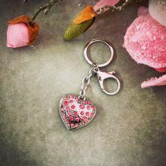 """Obesek za ključe """"srce s kristali"""" Carissimi C0515"""
