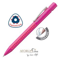 """Kemični svinčnik Faber-Castell """"Grip 2010"""" pink-orange aforum.shop®"""