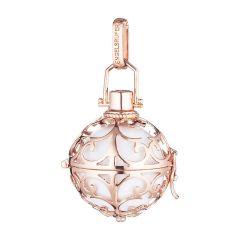 Ženski obesek Engelsrufer iz rose pozlačenega 925 srebra z belo zvenečo kroglico ER-01-R