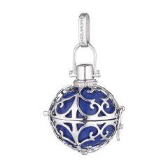 Ženski obesek Engelsrufer iz 925 srebra z modro zvenečo kroglico ER-07