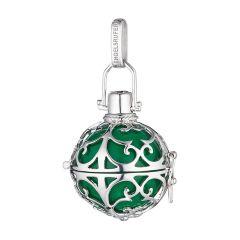 Ženski obesek Engelsrufer iz 925 srebra z zeleno zvenečo kroglico ER-04