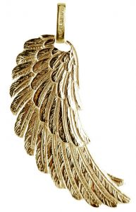"Ženski obesek Engelsrufer iz pozlačenega 925 srebra ""angelska perut"" ERW-G"