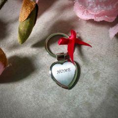 """Obesek za ključe """"srce"""" Carissimi C0605 z diamantno gravuro I AFORUM.shop"""