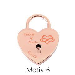Kljucavnica ljubezni z diamantno gravuro_srcek rose - motiv6 I AFORUM