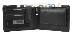 Moška usnjena denarnica Leonardo Verrelli 301354 z RFID zaščito