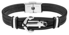 Men's leather bracelet Akzent A514252