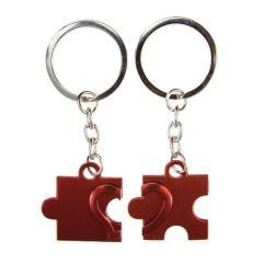Obeska za ključe puzzli - rdeč