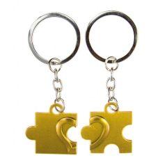 Obeska za ključe puzzli - zlat
