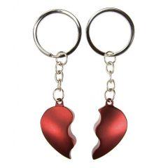 Obeska za ključe zlomljeno srce - rdeč