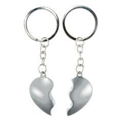 Obeska za ključe zlomljeno srce - srebrn