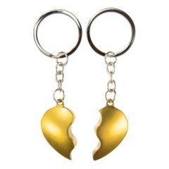 Obeska za ključe zlomljeno srce - zlat